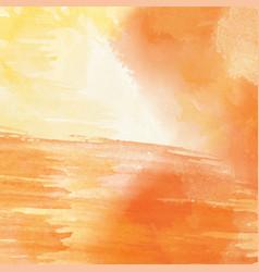 orange hand drawn watercolor background vector image