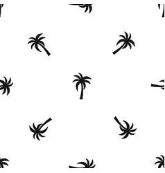 palm pattern seamless black vector image