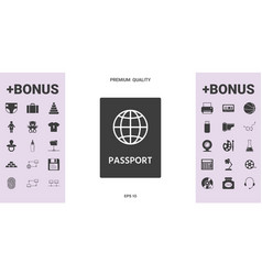 Passport icon symbol - graphic elements for your vector