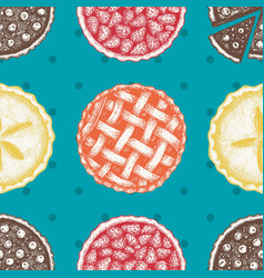 Pattern with vinatge baking vector