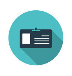 Plastic id card icon badge with empty place for vector