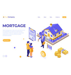 sale purchase rent mortgage house isometric vector image