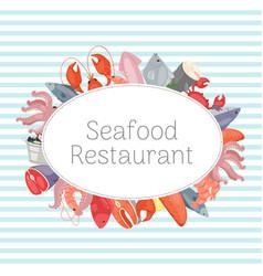 seafood restaurant banner poster vector image