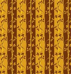seamless pattern with branches and leaves vector image