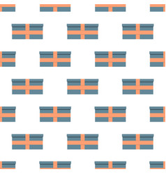 seamless pattern with gift boxes vector image