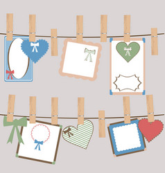 set of cute frames for girls vector image