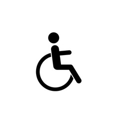 sign of disabled people icon element of travel vector image