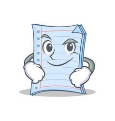 Smirking notebook character cartoon style vector