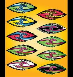 snake bodies symbol design vector image