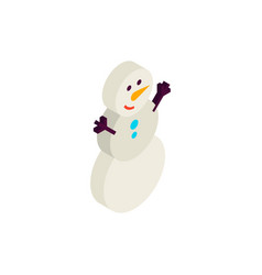 snowman isometric object vector image