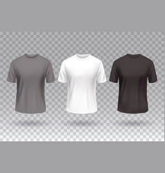t-shirt front white black and gray color design vector image