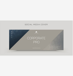Template for facebook cover vector