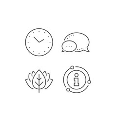 Time management line icon clock sign watch vector