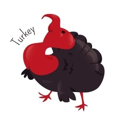 Turkey isolated Sticker for kids Child fun icon vector image
