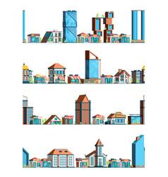 urban stores landscape city exterior building vector image