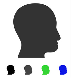 User head flat icon vector