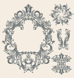 Victorian frame vector