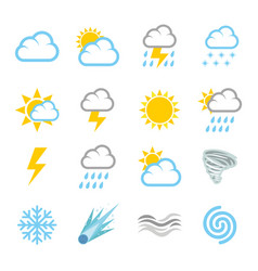 Weather forecast air temperature season vector