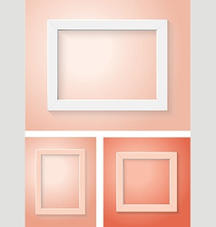 white and red frame set vector image