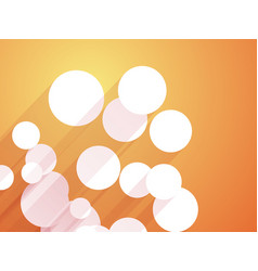 white circles with long shadows orange background vector image