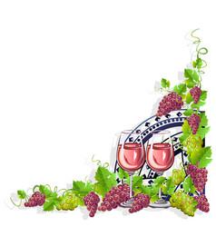 Wine frame vector