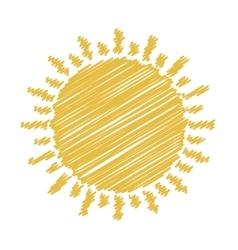 Yellow sun icon vector
