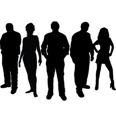 Young people vector