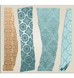 4 cracked wallpaper set vector image vector image