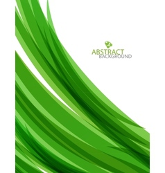 abstract green waves background vector image vector image