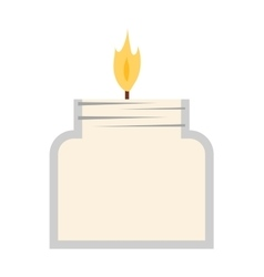 candle icon isolated vector image