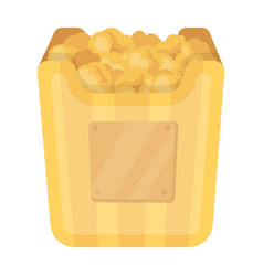 cup in the form of golden popcornthe prize of vector image vector image