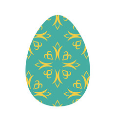 easter egg isolated traditional decoration food vector image vector image