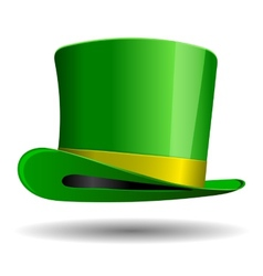 Green St Patrick Day hat vector image