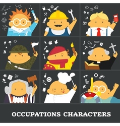 Occupations vector image