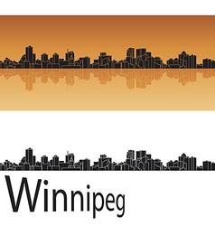 Winnipeg skyline in orange background vector image