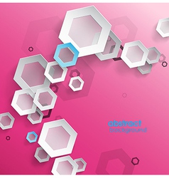 Abstract pink background with place for your text vector image