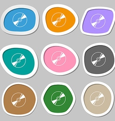 Cd DVD compact disk blue ray icon symbols vector image