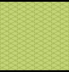 creative leaf pattern with green background design vector image vector image