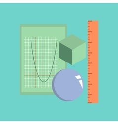 flat icon on stylish background geometry lesson vector image