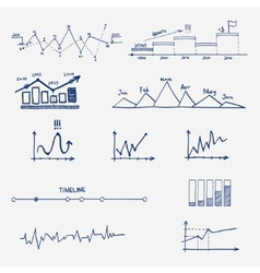 Graph chart business finance statistics vector image vector image