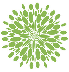 Abstract radial shape greenery isolate pattern vector