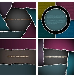 Backgrounds of torn paper vector image vector image
