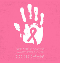 Breast cancer awareness month - conceptual poster vector