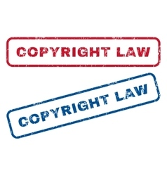 Copyright Law Rubber Stamps vector image