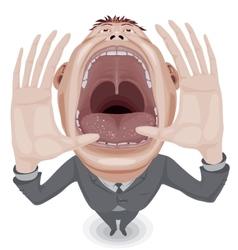 Crying man vector image vector image