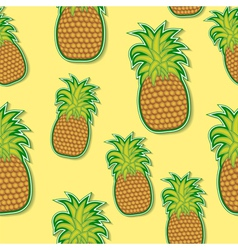 pineapple sticker pattern vector image vector image