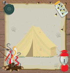 Rustic camping party vector