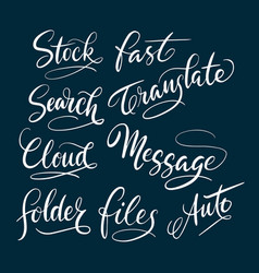Stock and message hand written typography vector