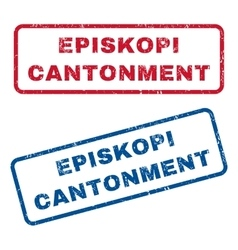 Episkopi Cantonment Rubber Stamps vector image vector image
