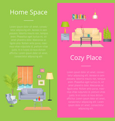 home space and cozy place vector image